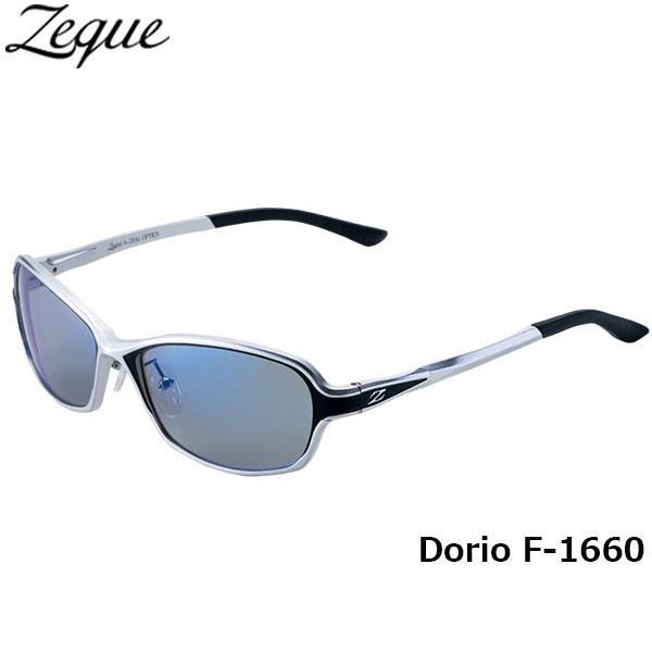 ジールオプティクス ZEAL OPTICS 偏光サングラス Dorio ドリオ F-1660 シルバー×ブラック トゥルービュースポーツ×ブルーミラー GLE4580274166771