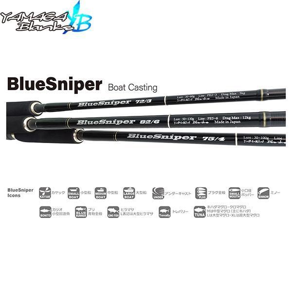 ヤマガブランクス YAMAGA Blanks ロッド BlueSniper 75/4 ブルースナイパー 75/4 YBS4560395514538