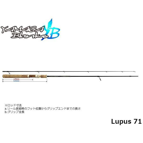 ヤマガブランクス YAMAGA Blanks ロッド Lupus 71 ルーパス71 YBS4560395515306
