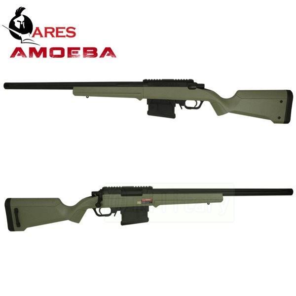 ARES AMOEBA ストライカーAS01 ボルトアクション スナイパーライフル エアコッキングガン オリーブドラブ
