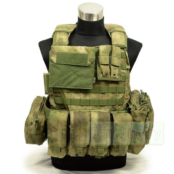 FLYYE Force Recon Vest with Pouch Set Ver.Land A-TACS FG 迷彩