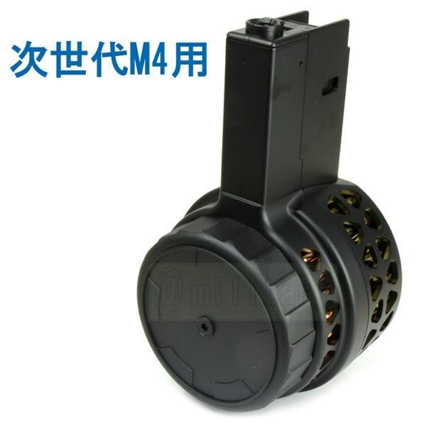 IRON AIRSOFT X15タイプ 1000連 電動ドラムマガジン 次世代M4電動ガン用