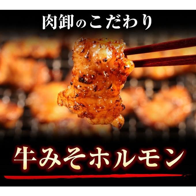 ホルモン 訳あり 送料無 肉 焼肉 お中元 お取り寄せ グルメ ギフト 食品 ポイント消化 シマチョウ てっちゃん もつ 味噌 タレ 牛肉 1kg (500g×2) geki-niku 02