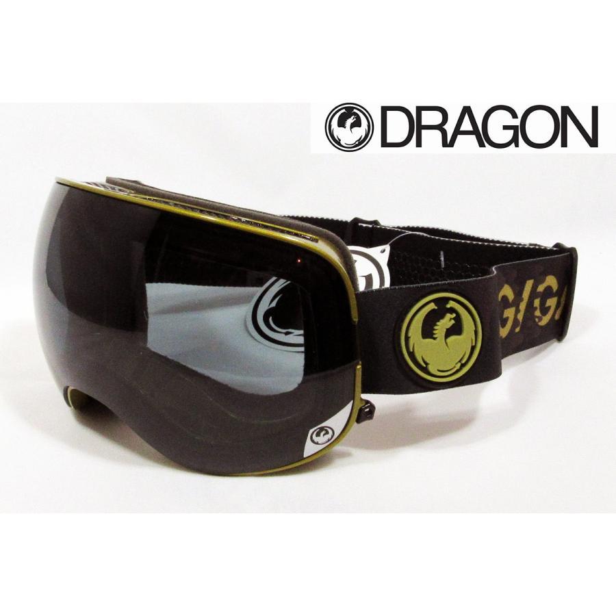 Dragon X2 GIGI Signature ドラゴン ゴーグル Dark Smoke + 黄 赤 Ion