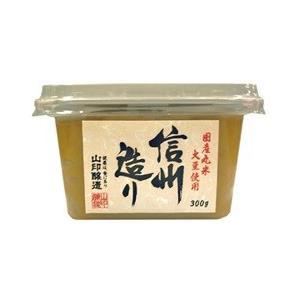 山印醸造 味噌 信州造り ×1ケース 300g×6個入り 美味しい味噌 こだわりの味噌|gekiyasuitiba-asia