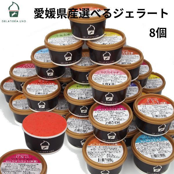 アイスクリーム ジェラート 8個セット 愛媛産ジェラート20種類から選べる 詰め合わせ バレンタイン 母の日 ギフト プレゼント お祝い|gelateria-uno