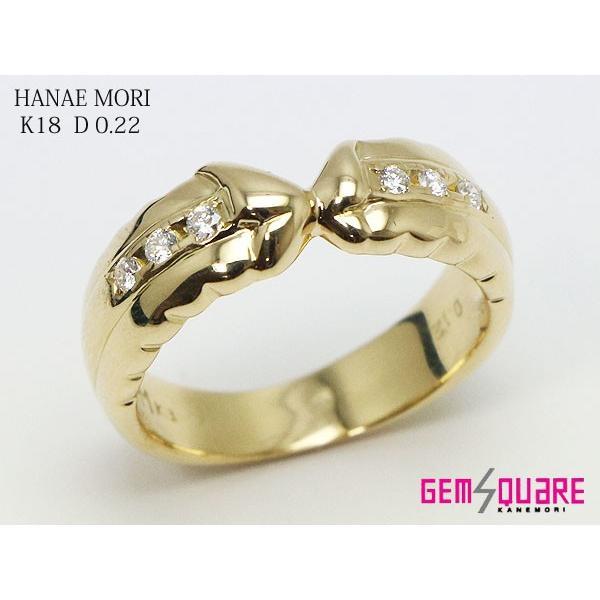 輝く高品質な K18YG ダイヤモンド 14号 森英恵ジュエリー リング D0.12 14号 指輪 ダイヤモンド HM HANAE HANAE MORI 仕上げ済(質屋出店), ドレス大好き!アバンティ:7f7d6933 --- airmodconsu.dominiotemporario.com