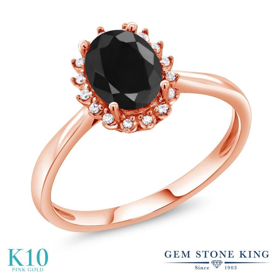 最終決算 天然 ブラックサファイア 指輪 レディース リング ダイヤモンド 10金 ピンクゴールド 大粒 天然石 9月 誕生石 プレゼント 女性 嫁 誕生日, 御所市 43a86e2b