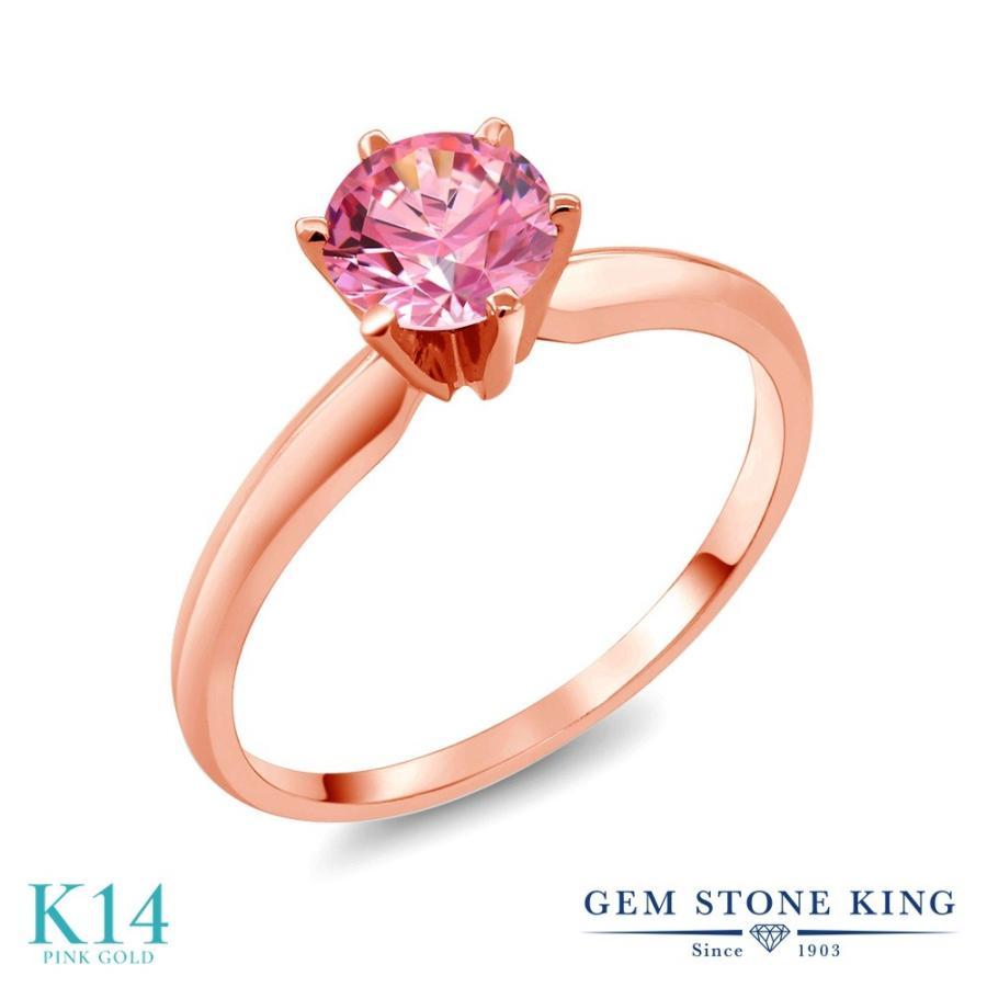 魅力の スワロフスキージルコニア (ファンシーピンク) 指輪 レディース リング 14金 ピンクゴールド CZ 一粒 プレゼント 女性 嫁 誕生日, 鳥の巣箱 eed421eb