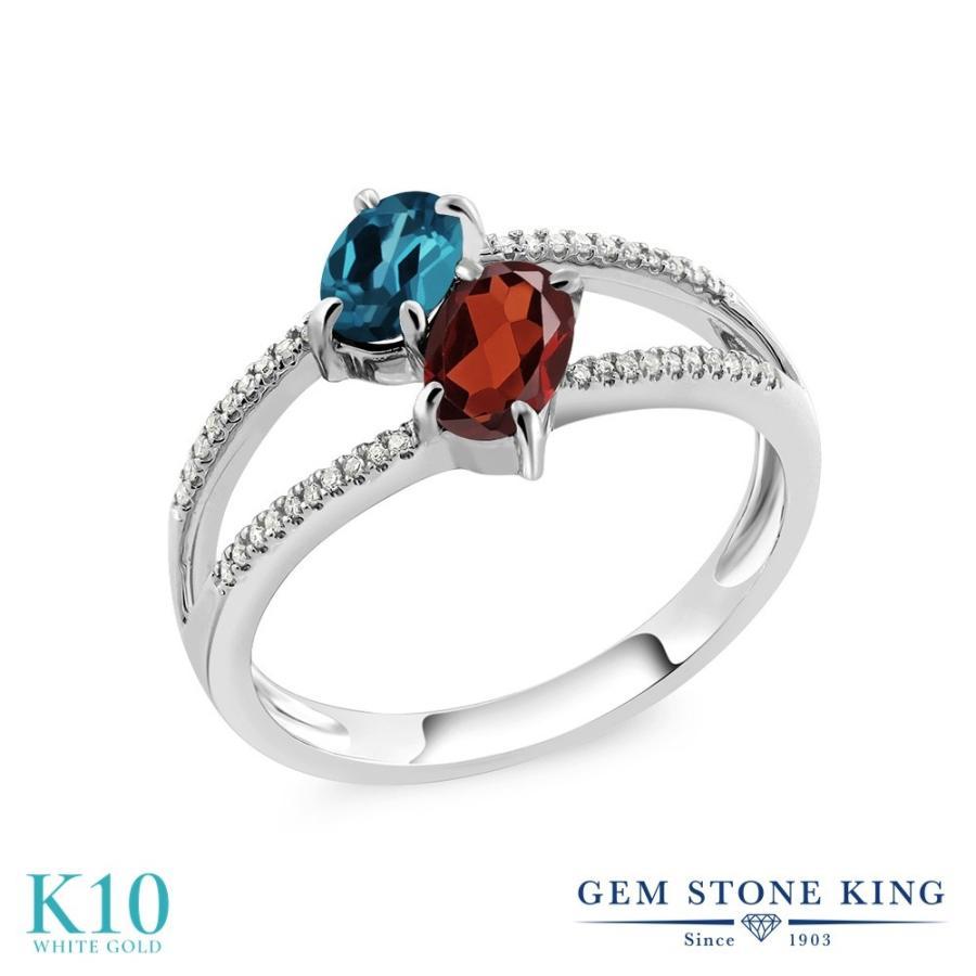 最も信頼できる 天然 ロンドンブルートパーズ 指輪 レディース リング ガーネット ダイヤモンド 10金 ホワイトゴールド 天然石 11月 誕生石 プレゼント 女性 嫁 誕生日, soratoumi a112e64c