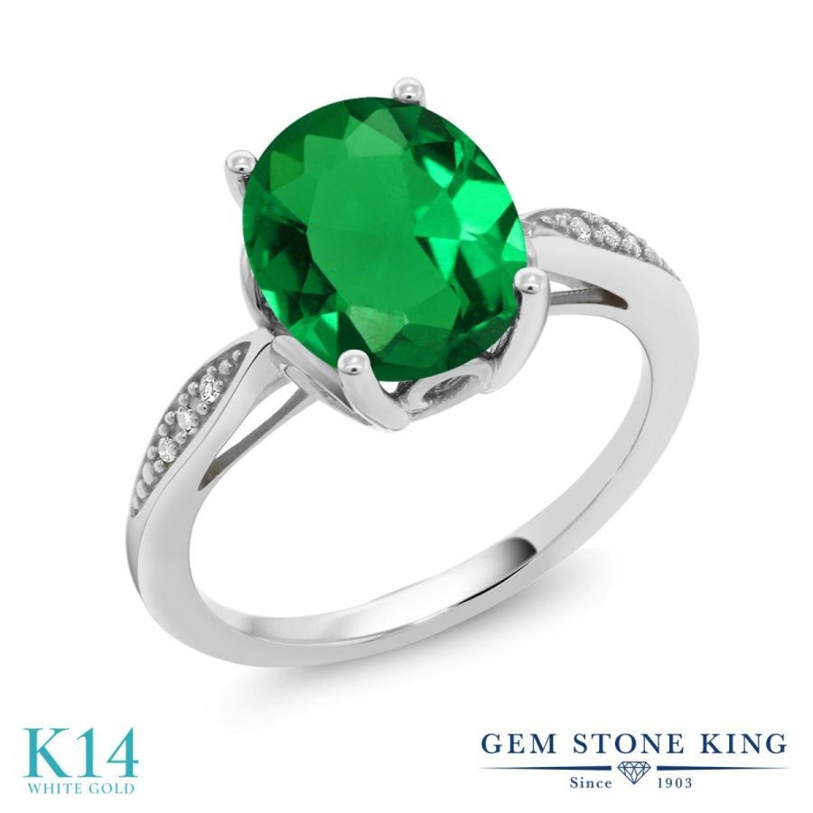 多様な ナノエメラルド 指輪 レディース リング 天然 ダイヤモンド 14金 ホワイトゴールド 大粒 プレゼント 女性 嫁 誕生日, e-bag stores e54c222f