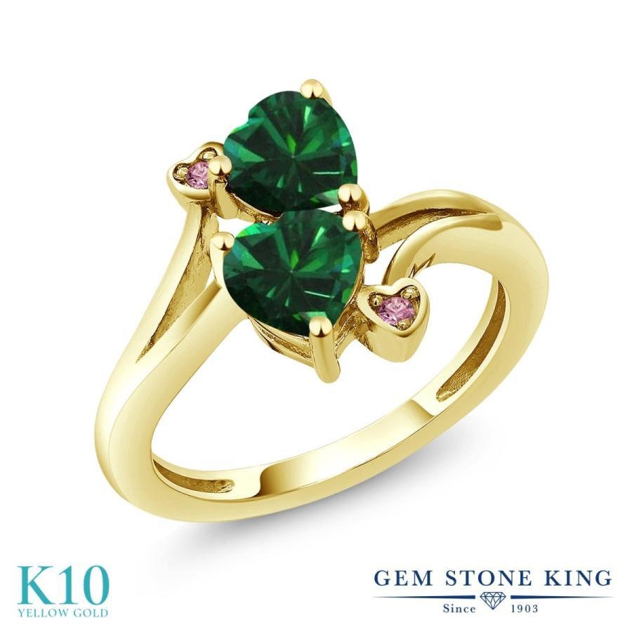 超格安価格 ナノエメラルド 指輪 レディース リング 合成ピンクダイヤモンド 10金 イエローゴールド プレゼント 女性 嫁 誕生日, カマエチョウ ac84e99e