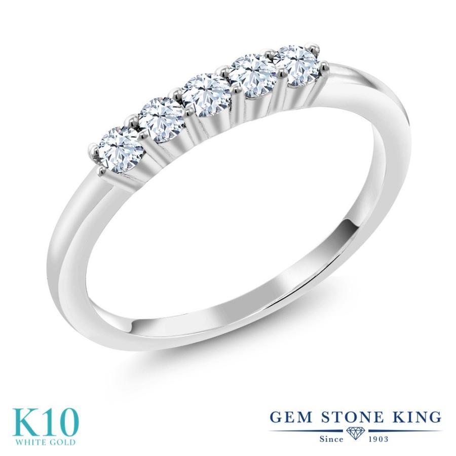 【特価】 合成ホワイトサファイア 指輪 レディース リング 10金 ホワイトゴールド 結婚指輪, CoCo Color KYOTO 18819ac5