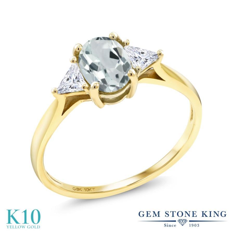 日本最級 天然 アクアマリン 指輪 レディース リング モアサナイト 10金 イエローゴールド 大粒 天然石 3月 誕生石 プレゼント 女性 嫁 誕生日, イシコシマチ 8b30be7b