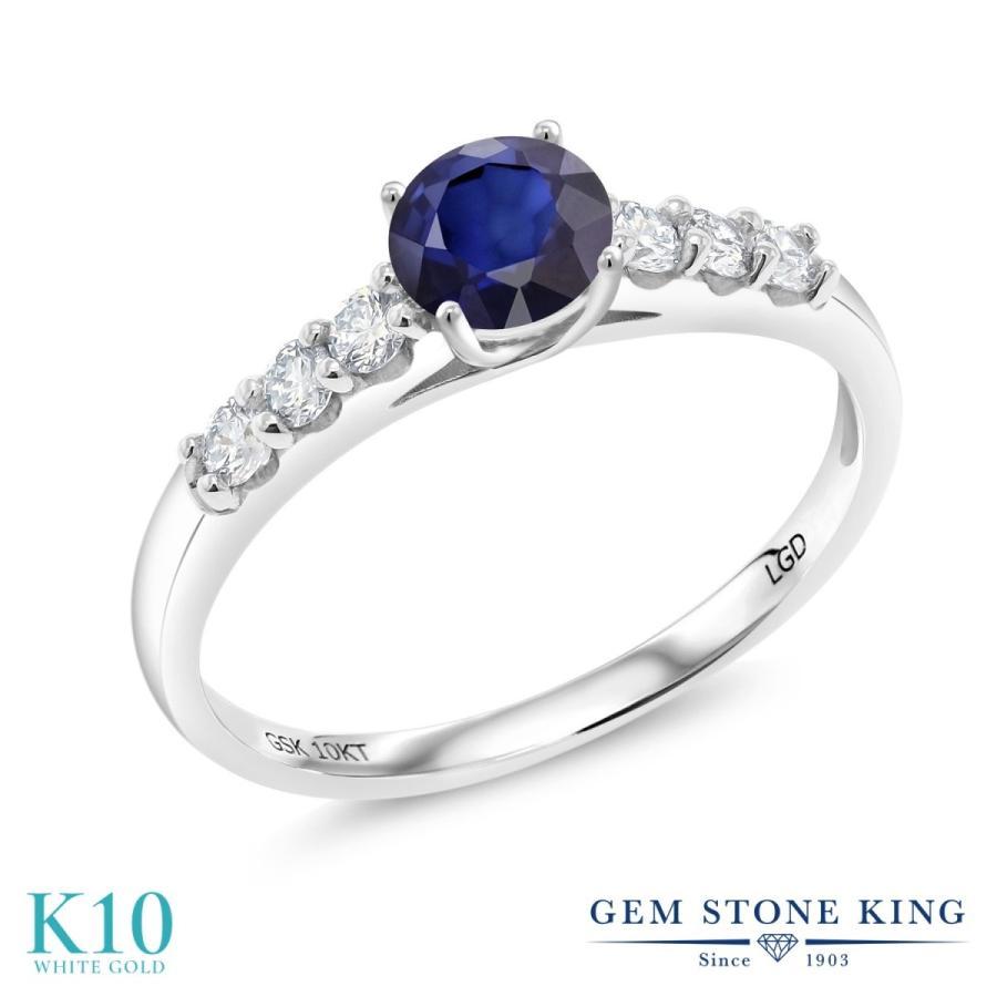 欲しいの 天然 サファイア 指輪 レディース リング 合成ダイヤモンド 10金 ホワイトゴールド 天然石 9月 誕生石 プレゼント 女性 嫁 誕生日, ビューティーショップ ソフィア 0ccd45b1
