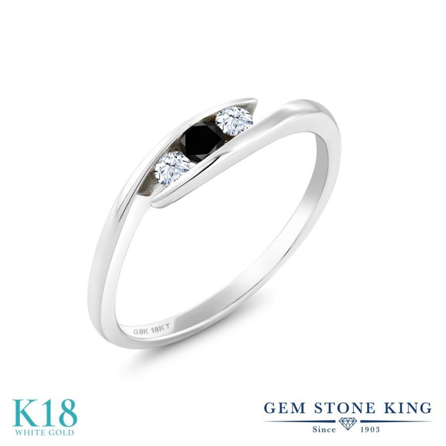 完成品 ブラックダイヤモンド 指輪 レディース リング 18金 ホワイトゴールド 天然石 4月 誕生石 プレゼント 女性 嫁 誕生日, 家具おもしろ工房 bbab0148