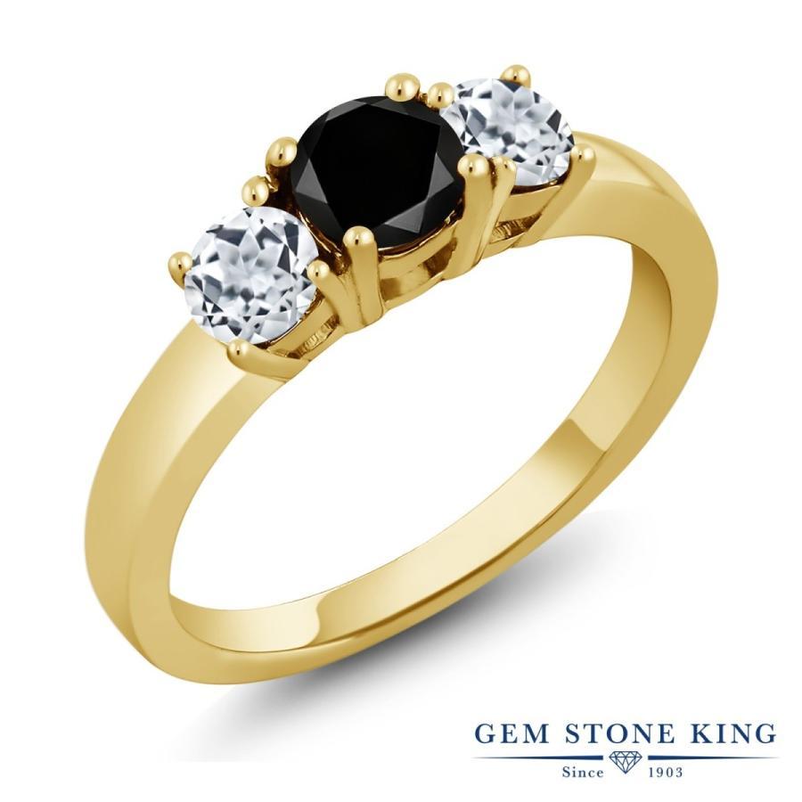 数量は多 ブラックダイヤモンド 指輪 レディース リング 天然 トパーズ イエローゴールド 加工 天然石 4月 誕生石 プレゼント 女性 嫁 誕生日, ケーオーリカーズ 314f7f50