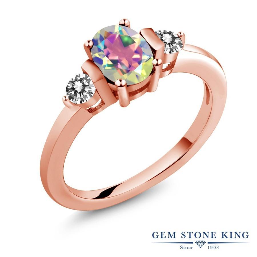 大人気定番商品 天然石 ミスティックトパーズ (マーキュリーミスト) 指輪 レディース リング 天然 ダイヤモンド ピンクゴールド 加工 プレゼント 女性 嫁 誕生日, MASTERPIECE c990fd85