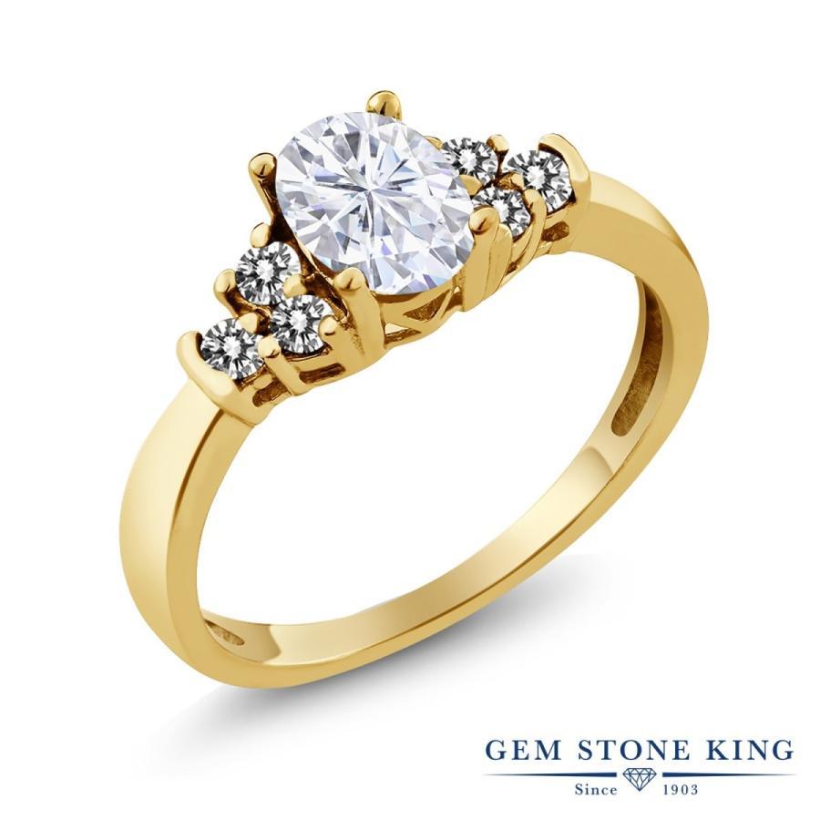 【最安値挑戦】 Forever Brilliant モアサナイト 指輪 レディース リング 天然 ダイヤモンド イエローゴールド 加工 プレゼント 女性 嫁 誕生日, 再生屋 6480ed1c