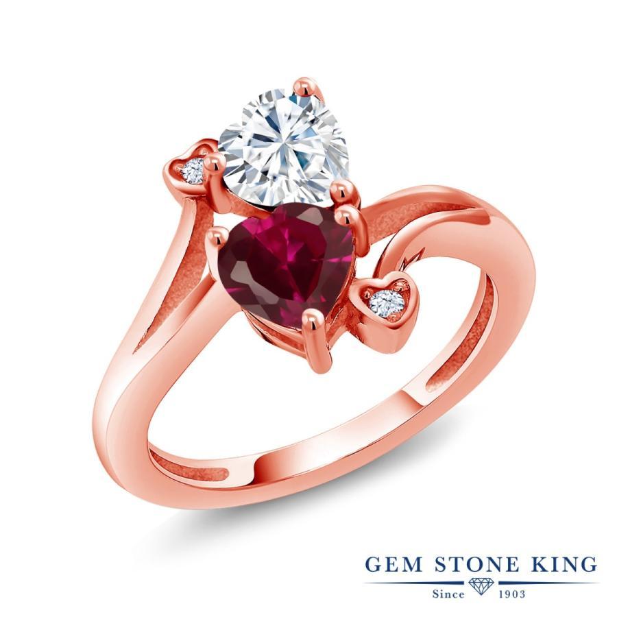 最高級 Forever Brilliant モアサナイト 指輪 レディース リング 合成ルビー ピンクゴールド 加工 プレゼント 女性 嫁 誕生日, カラコンウィッグ@キュティア 5cb4107e