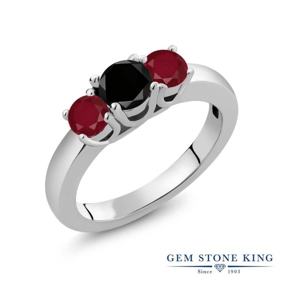 【特別セール品】 ブラックダイヤモンド 指輪 レディース リング 天然 ルビー 天然石 4月 誕生石 プレゼント 女性 嫁 誕生日, コンフォートコスメ a56d7d2e