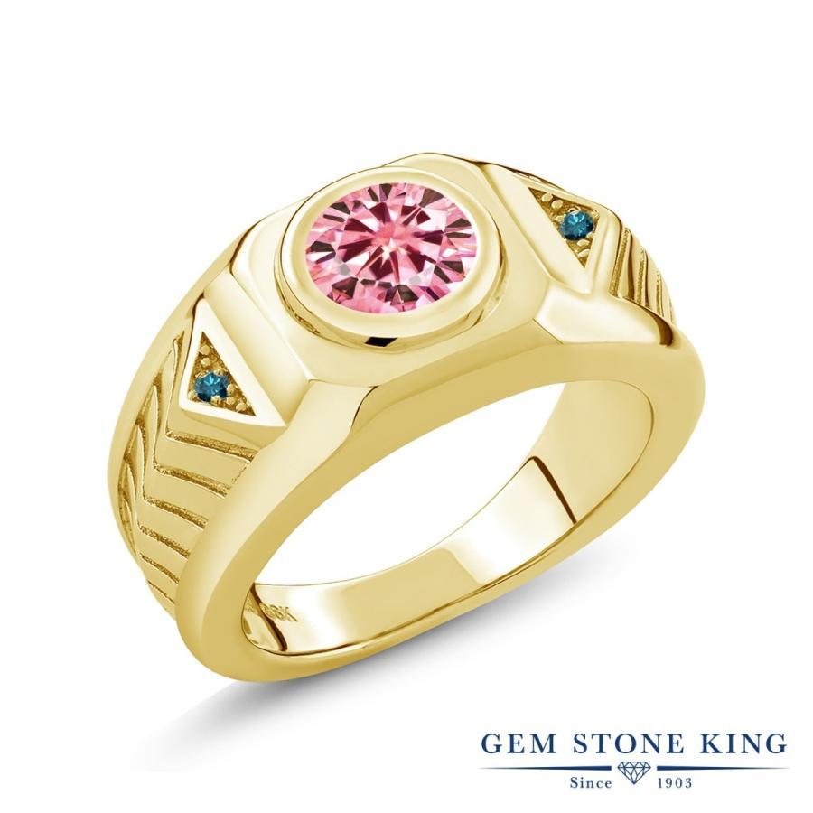 人気が高い ピンク モアサナイト 指輪 レディース リング 天然 ブルーダイヤモンド イエローゴールド 加工 大粒 プレゼント 女性 嫁 誕生日, ドラッグスーパー alude 8d9f1199