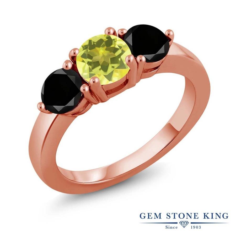 有名なブランド 天然石 ミスティックトパーズ (イエロー) 指輪 レディース リング ブラックダイヤモンド ピンクゴールド 加工 大粒 プレゼント 女性 嫁 誕生日, Feelgood Shop f65179f5