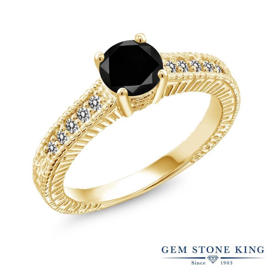 海外並行輸入正規品 ブラックダイヤモンド 指輪 レディース リング イエローゴールド 加工 大粒 天然石 4月 誕生石 婚約指輪, 八森町 39ac0f5b