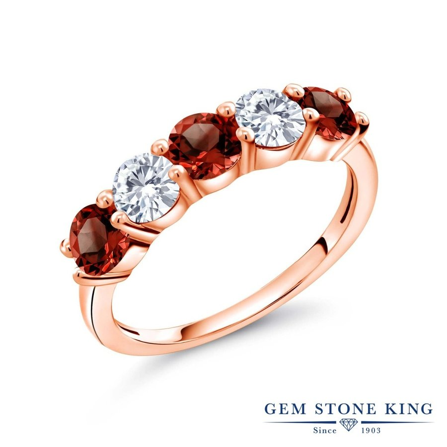 好評 天然 ガーネット 指輪 レディース リング 合成ダイヤモンド ピンクゴールド 加工 天然石 1月 誕生石 プレゼント 女性 嫁 誕生日, TopIsm メンズ ファッション 通販 a7bf0b78