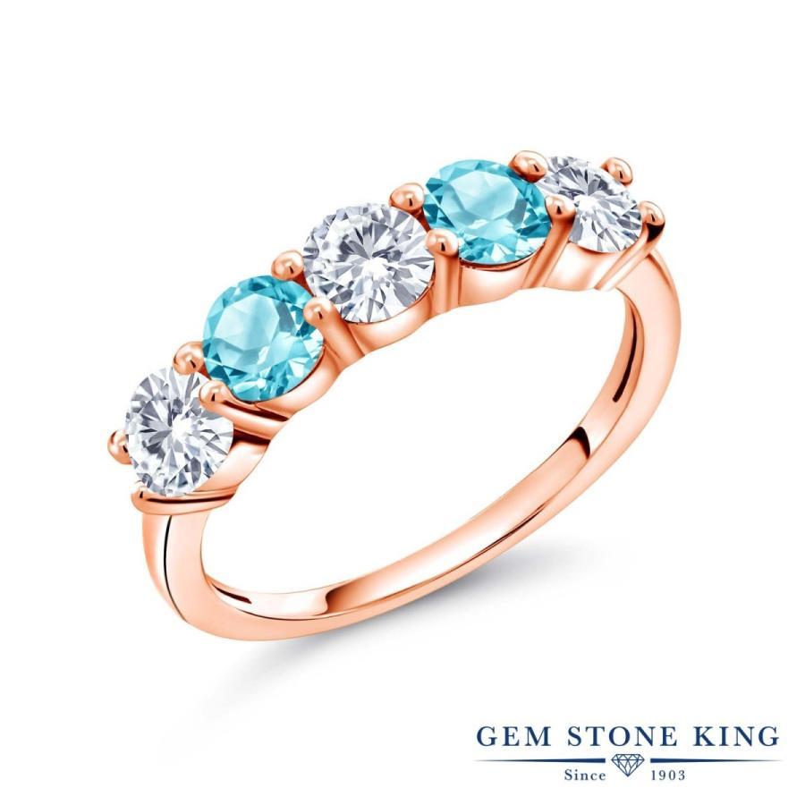 春夏新作モデル 合成ダイヤモンド 指輪 レディース リング 天然 スイスブルートパーズ ピンクゴールド 加工 プレゼント 女性 嫁 誕生日, フローマート 2c692060