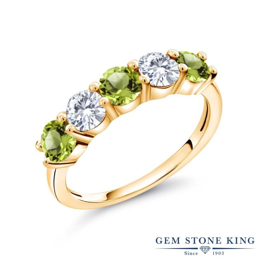 新しいスタイル 天然石 ペリドット 指輪 レディース リング 合成ダイヤモンド イエローゴールド 加工 8月 誕生石 プレゼント 女性 嫁 誕生日, 度会郡 4109ba66