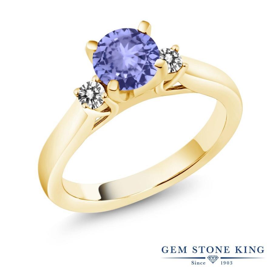 100%安い 天然石 タンザナイト 指輪 レディース リング 天然 ダイヤモンド イエローゴールド 加工 12月 誕生石 婚約指輪, 犬服通販*じゃんぐるぺっと 3dbdb478