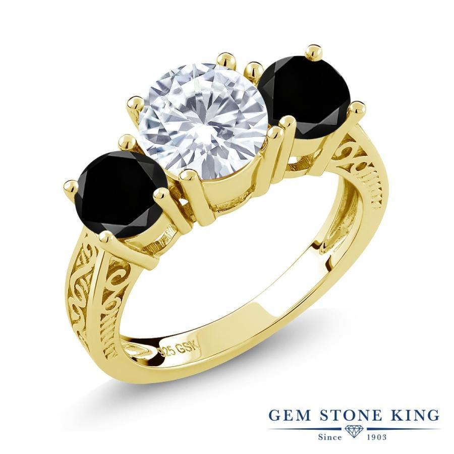 最終値下げ Forever Brilliant モアサナイト 指輪 レディース リング ブラックダイヤモンド イエローゴールド 加工 大粒 プレゼント 女性 嫁 誕生日, 神林村 a641de9d