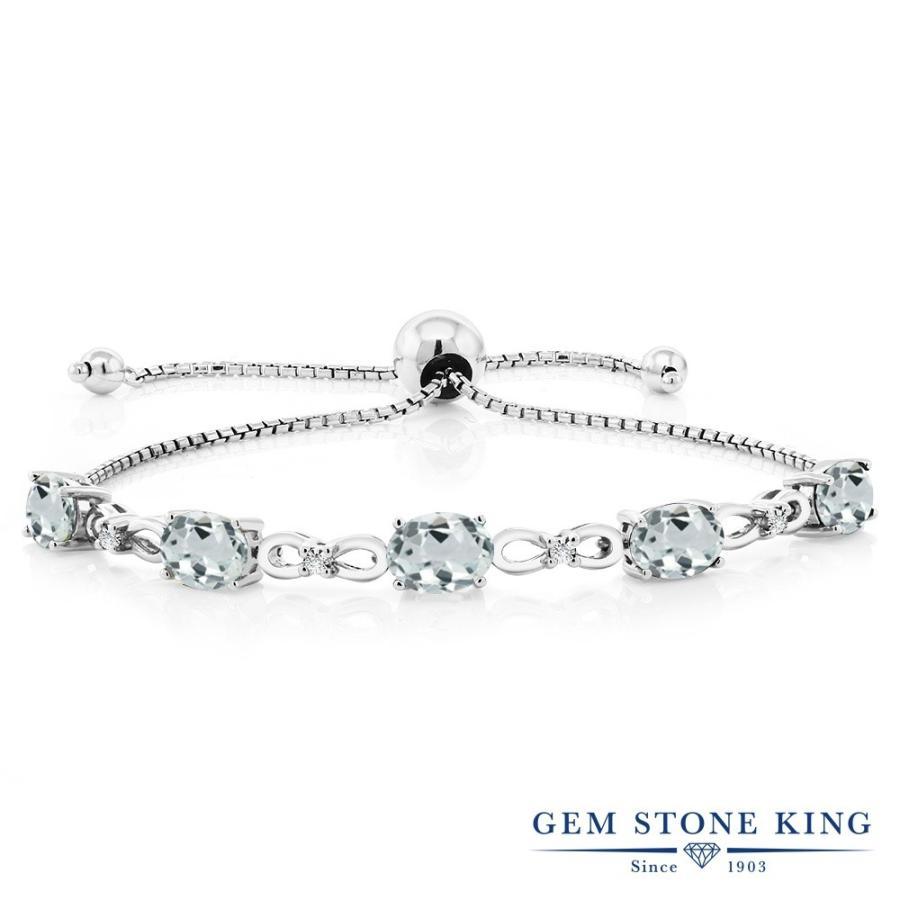 宅配便配送 天然 アクアマリン ブレスレット レディース ダイヤモンド 天然石 3月 誕生石 プレゼント 女性 嫁 誕生日, アクアクラフト 987a065c