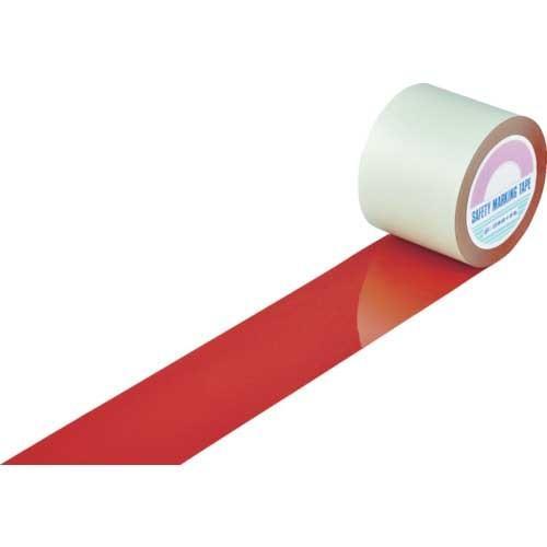緑十字 ガードテープ(ラインテープ) 赤 100mm幅×100m 屋内用