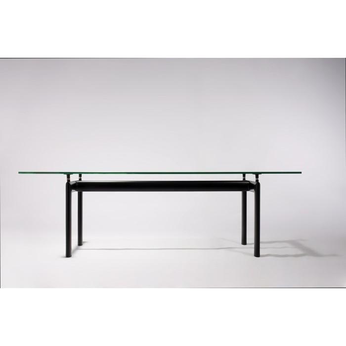 (保証付き)ル・コルビジェ LC6 ダイニングテーブル W225 ブラックスチールフレーム kaw-dt5076