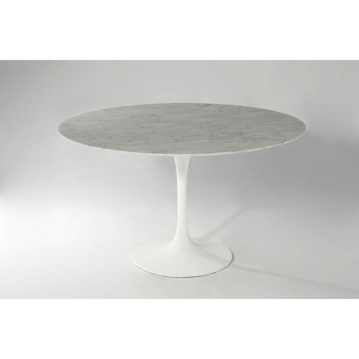 (保証付き)エーロ・サーリネン ラウンド ダイニングテーブル W122 大理石 kaw-dt6131awhmar