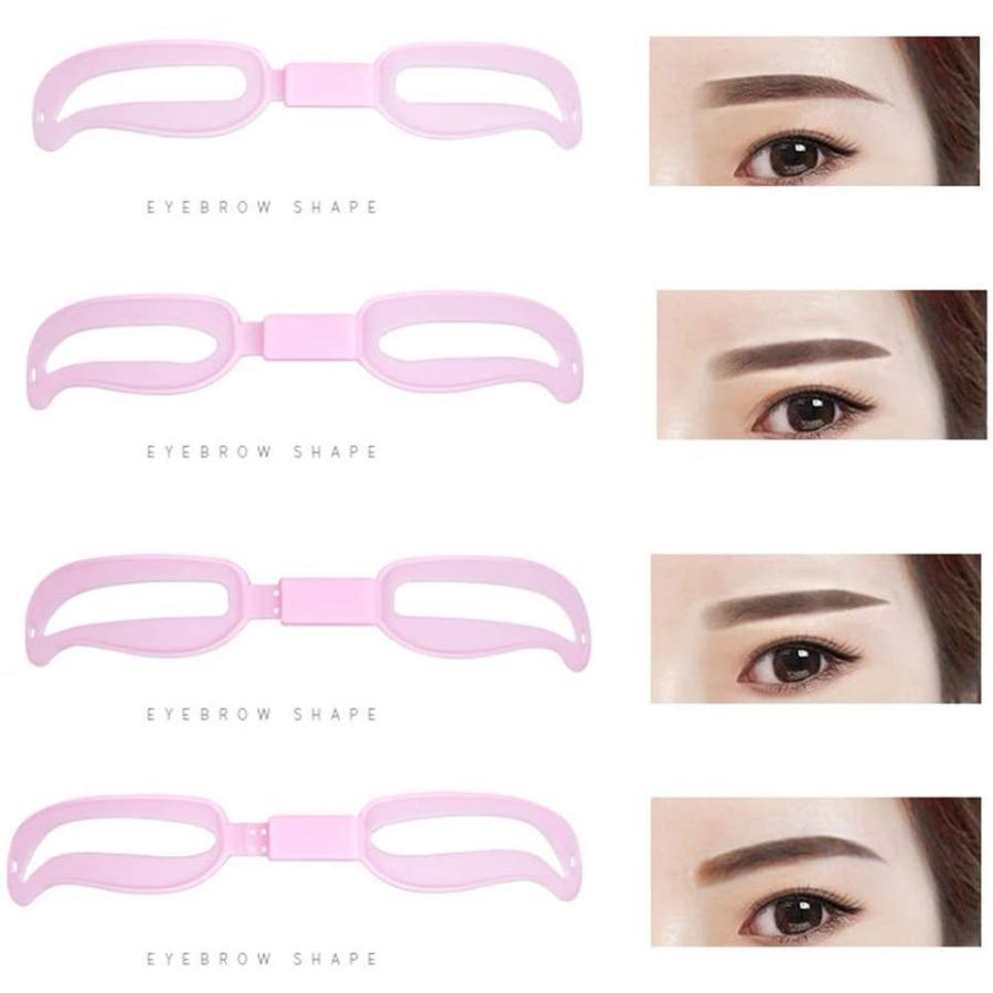 4種類 調整可能 眉毛テンプレート 4パターン 眉毛を気分で使い分け 眉用ステンシル 4段階調節可能 美容ツール 初心者眉の補助器 男女兼用 general-purpose 04