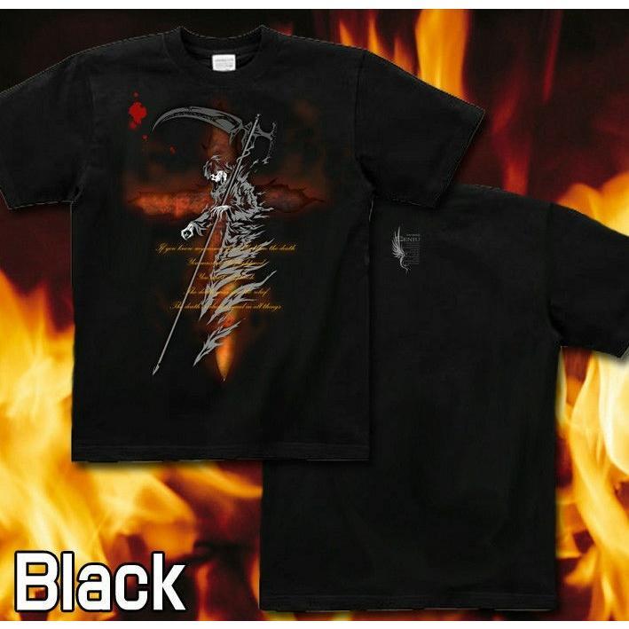Tシャツ 死神 スカル メタル ロック|genju|04