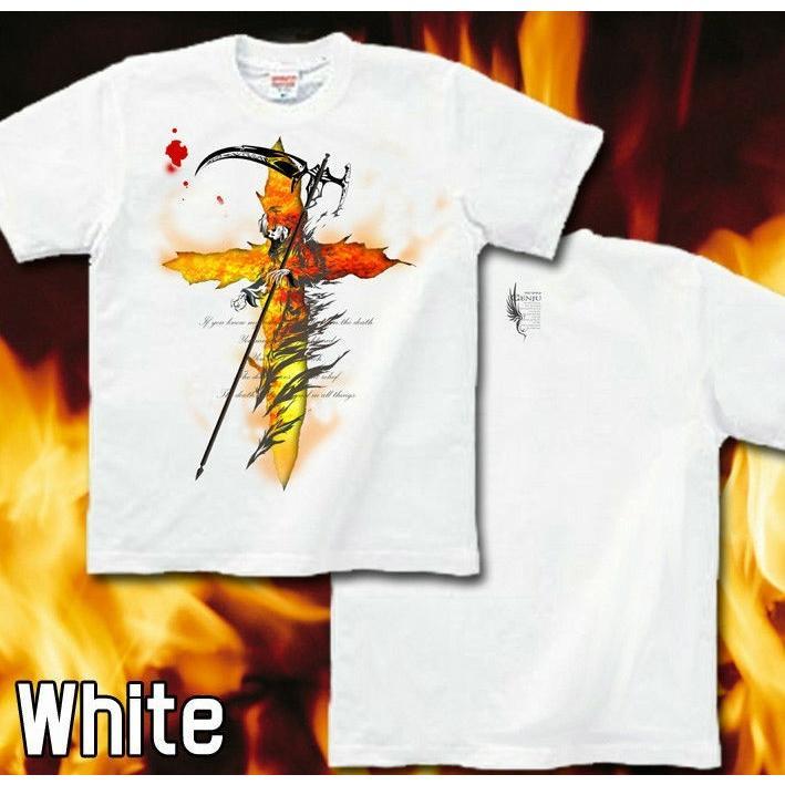 Tシャツ 死神 スカル メタル ロック|genju|05