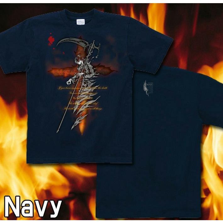 Tシャツ 死神 スカル メタル ロック|genju|07