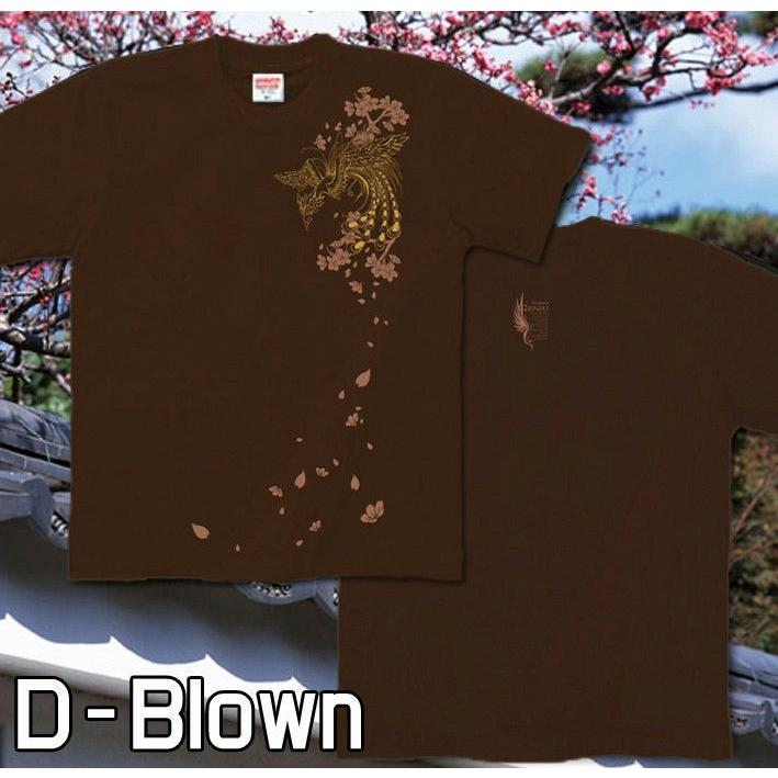 Tシャツ 和柄 鳳凰 桜 鳳桜 サイズ|genju|05