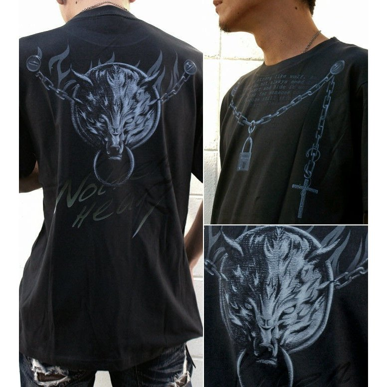 Tシャツ 狼 ウルフ ストリート アクセ genju 02