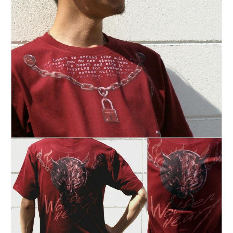 Tシャツ 狼 ウルフ ストリート アクセ genju 03