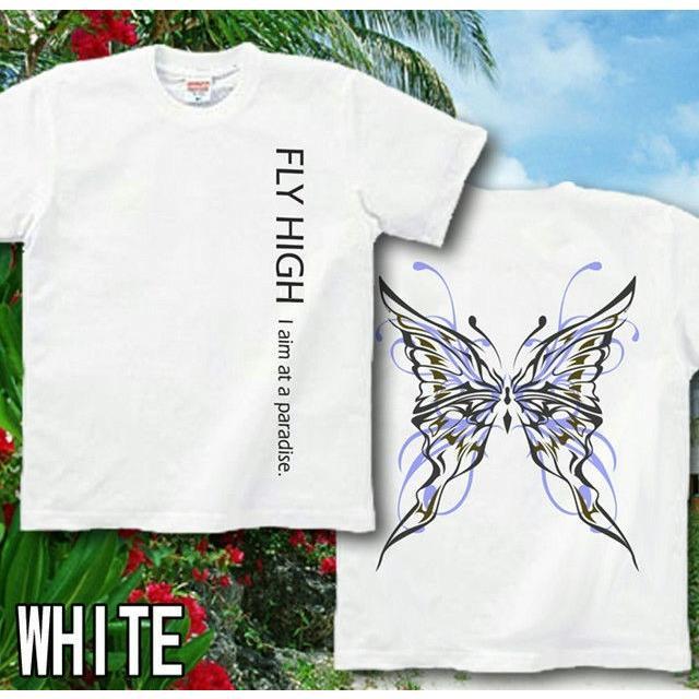 Tシャツ 蝶 バタフライ きれいめ|genju|07