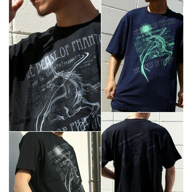 Tシャツ ユニコーン 馬 キレイめ|genju|03