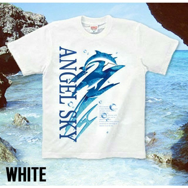 Tシャツ イルカ 海 夏 ドルフィン メンズ genju 05
