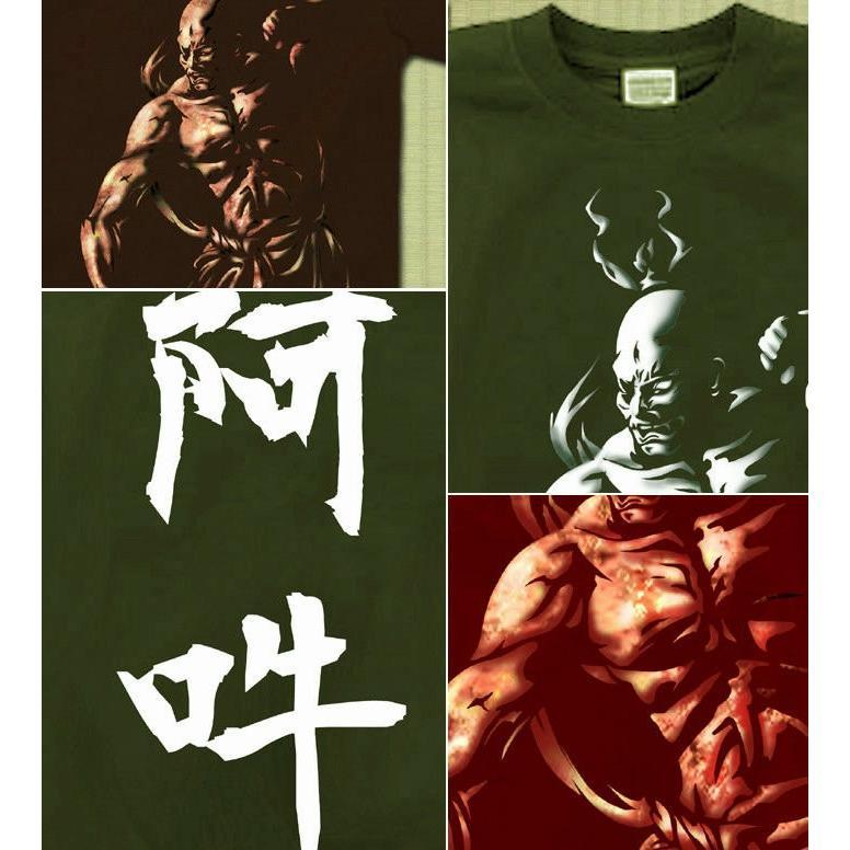 Tシャツ 和柄 仏像 仁王像 京都 サイズ|genju|04