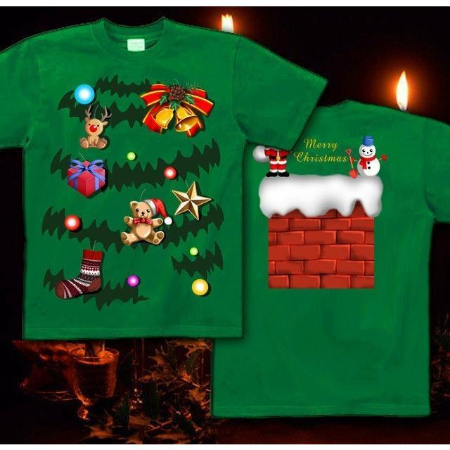 Tシャツ クリスマスツリー スポーツジム|genju|04