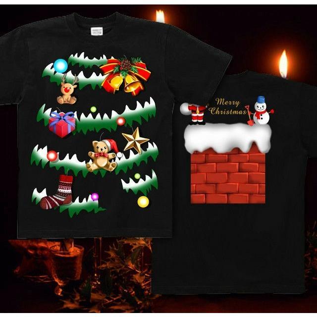 Tシャツ クリスマスツリー スポーツジム|genju|05